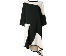 asymmetric two-tone dress