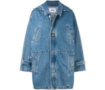 Oversized-Jeansmantel mit Kapuze