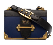 navy blue and black cahier leather crossbody bag