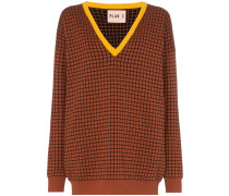 Pullover mit Gittermuster