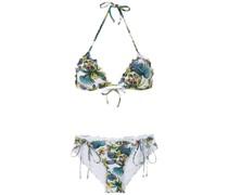 tropical pattern bikini set