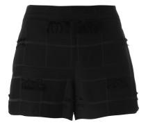 Shorts mit Fransendetails