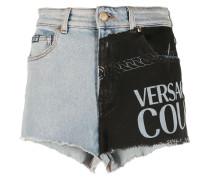 Jeans-Shorts mit Kontrasteinsatz