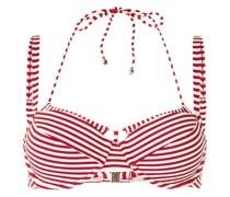 Holi Vintage striped double-strap bikini top