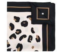 leopard print border scarf