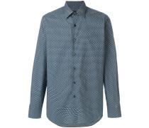 geometric micro print shirt