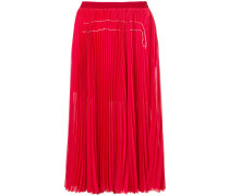 pleated mid-lenght skirt