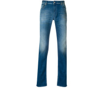 slim fit stonewashed jeans