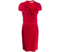 1990s Kleid mit drapiertem Ausschnitt