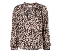 'Theresa' Tunika mit Leoparden-Print