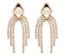 18kt vergoldete Ohrringe mit Perlen