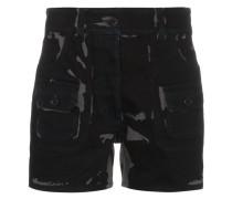 Zweifarbige Shorts mit hohem Bund