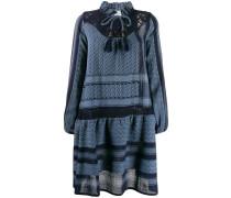 mixed pattern dress