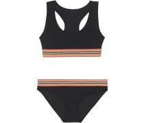 Bikini mit Streifendetail