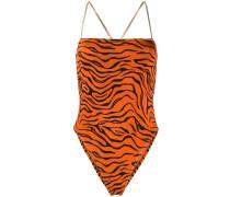 'Chloe' Badeanzug mit Tiger-Print