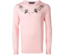 Sweatshirt mit Rosen-Stickerei