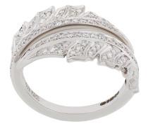 18kt white gold Magnipheasant Pave Spilt diamond ring