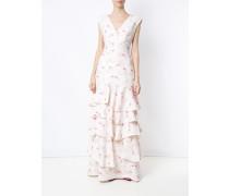 flamingo print gown