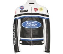 x Ford Bikerjacke mit Racing-Logo