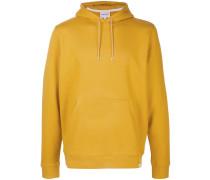 distressed print hoodie