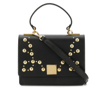 studded foldover top tote