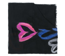 heart printed scarf