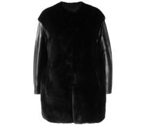 Kastige Jacke aus Faux Fur