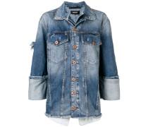 Jeansjacke im Layering-Look
