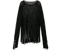Oversized-Pullover in Distressed-Optik - Unavailable