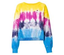 Kastiges Sweatshirt mit Batikmuster