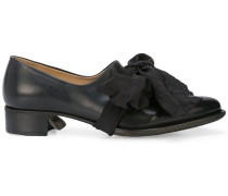 bow-detail loafers