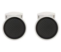 patterned circular cufflinks