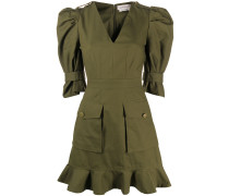 Minikleid im Military-Look