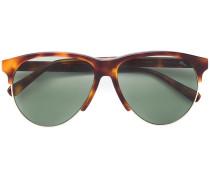 Runde Sonnenbrille mit Schildpattoptik