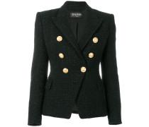 Tweed-Jacke mit Knopfverzierung