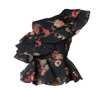 floral one shoulder ruffled top
