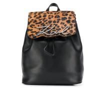 Rucksack mit Leoparden-Print