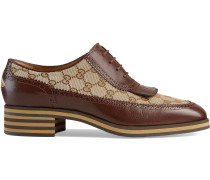 Leather and GG brogue shoes