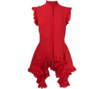 asymmetric ruffle blouse
