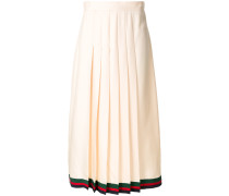 pleated midi skirt with Web trim