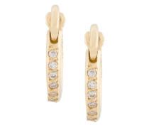 Mini 18kt Goldkreolen mit Diamanten