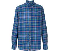 checked button shirt