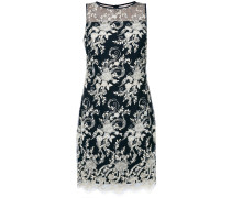 floral embroidered overlay dress