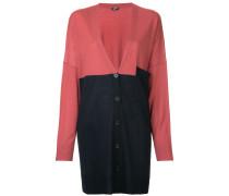 colourblock mid-length cardigan