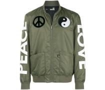 'Peace Love' Bomberjacke