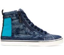High-Top-Sneakers aus Denim