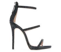 Glitzernde Stiletto-Sandalen