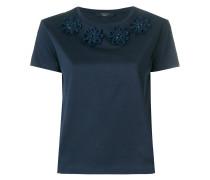 floral appliqué T-shirt