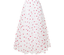 P.A.R.O.S.H. lips embroidered tulle skirt