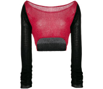 Schulterfreier Cropped-Pullover